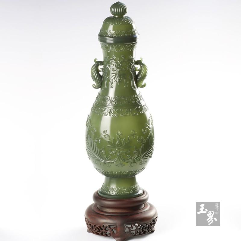 青玉-纹饰薄胎瓶