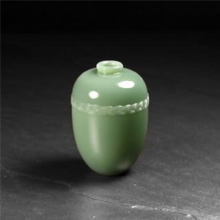 碧玉-玉带素面瓶