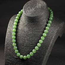 碧玉(猫眼光)-圆珠项链