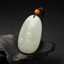 白玉子料牌-地藏王菩萨