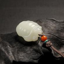 白玉挂件-长寿富贵