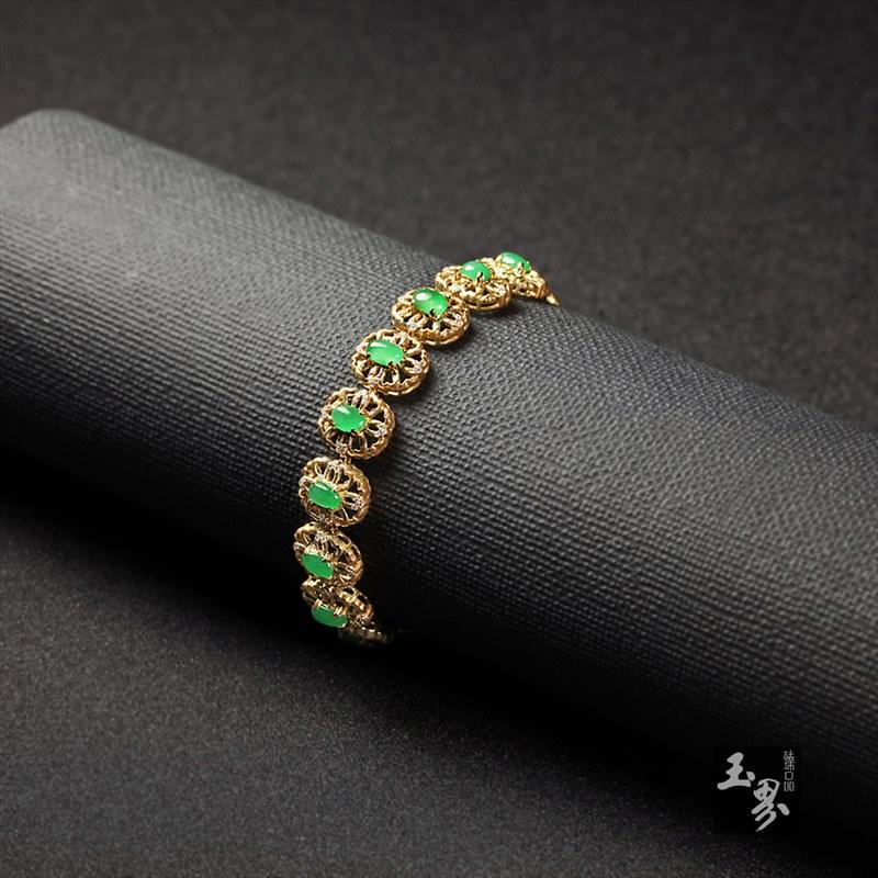 (18k金镶钻)翡翠-手链