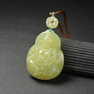 黄玉挂件-黄财神