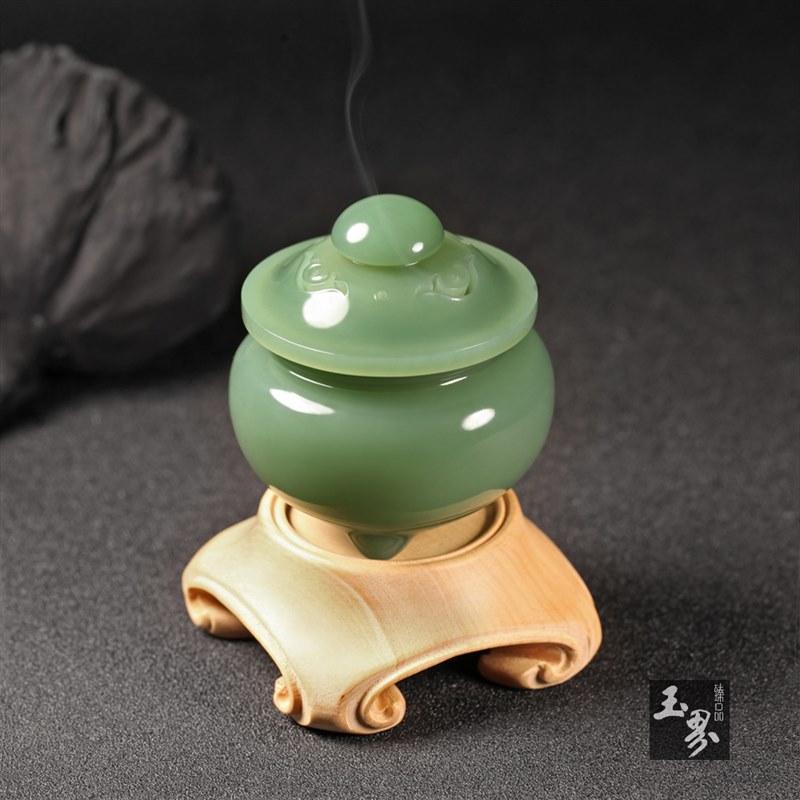碧玉-文玩香薰炉