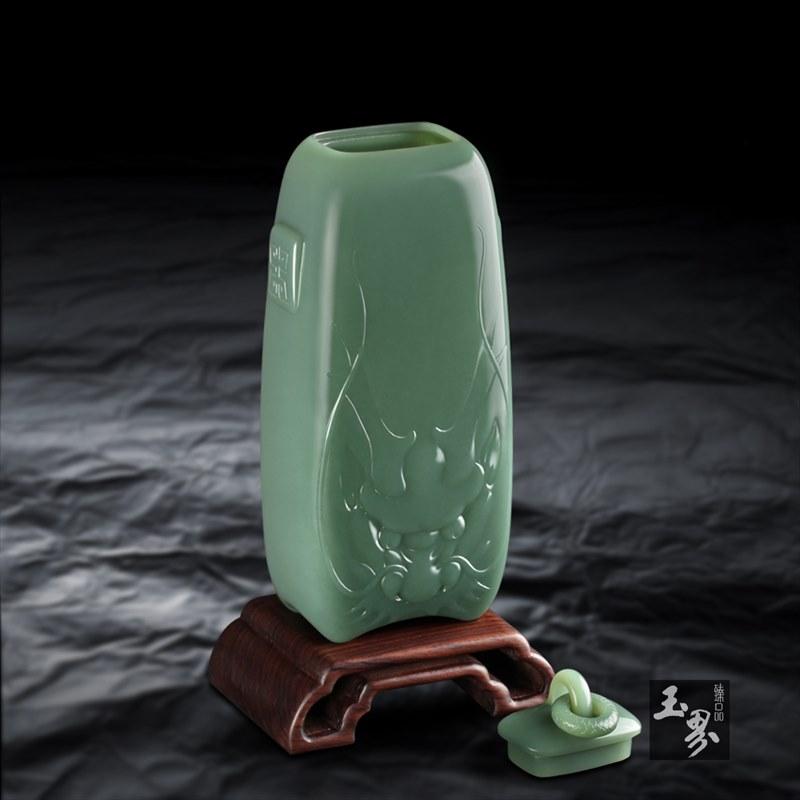 碧玉-青龙瓶