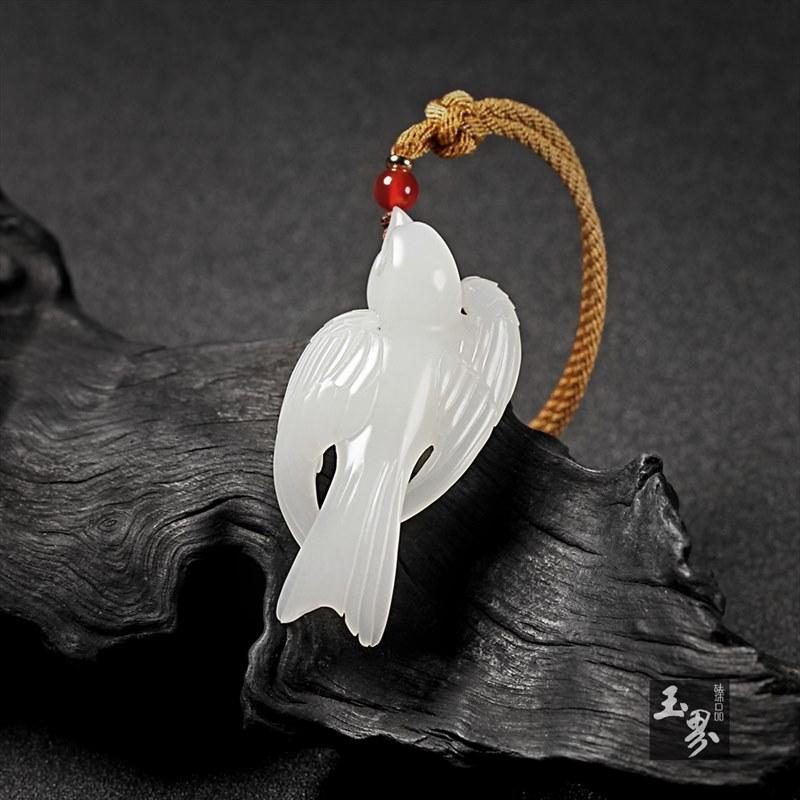 羊脂白玉挂件-小燕子